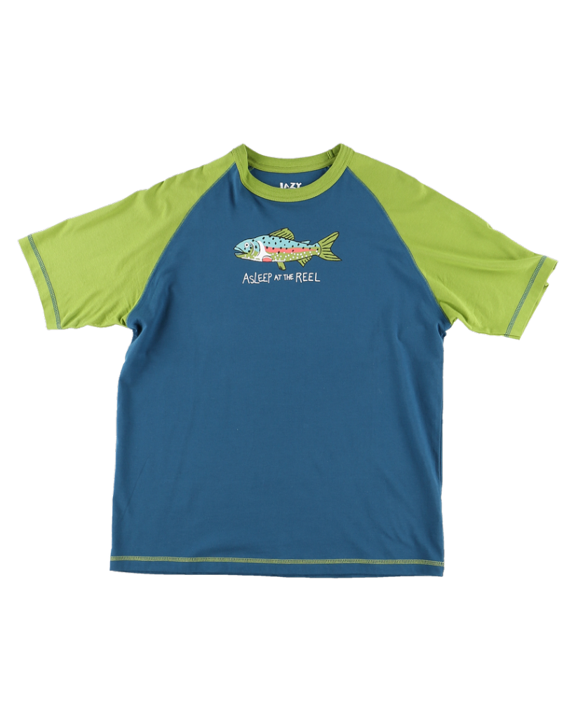Men's Asleep At The Reel PJ T-shirt - Lazy One® | Men's Fishing Pyjamas